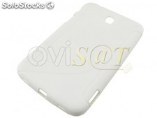 Funda TPU color blanco para Samsung Galaxy Tab 3 (7.0) , P3200.