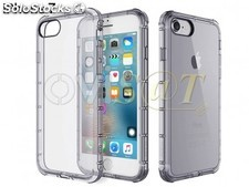 Funda TPU de color negro transparente para Apple iPhone 7, iPhone 8, en blíster.