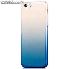 Funda TPU de gel degradada azul y transparente para iPhone 7