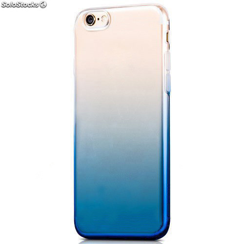 d4b4c5b4f41 Funda TPU de gel degradada azul y transparente para iPhone 7
