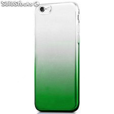 Funda TPU de gel degradada verde y transparente para iPhone 7
