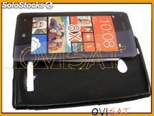 Funda TPU negra para HTC Windows Phone 8X