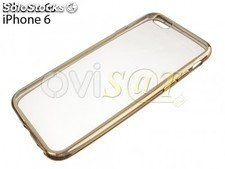Funda TPU transparente con borde dorado para Apple iPhone 6 / 6S
