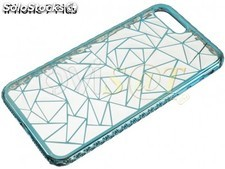Funda TPU transparente y azul para Apple iPhone 7 Plus, iPhone 8 Plus de 5.5