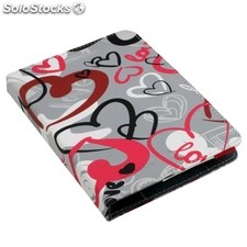 "Funda universal evitta booklet urban trendy crazy hearts para ebook 6""/15.24CM -"