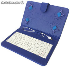Funda universal para tablet 7 + teclado azul ll-at-11-a