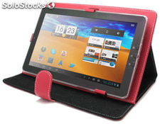 "Funda universal para tablet pc 10"" con soporte en rojo ll-at-5-red"