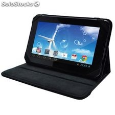 Funda universal stand folio para tablets negra Sunstech BAG71