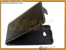 Funda vertical negra para HTC Windows Phone 8X