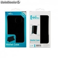 Funda wallet folio made for WIKO para smartphone ridge 4g - funcion soporte -