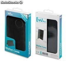 Funda wallet folio made for WIKO para smartphone ridge fab - funcion soporte -