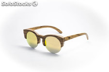 Gafas de madera selene orange mirror