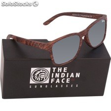 Gafas de sol free spirit - brown wooden - the indian face - 8433856066098 -