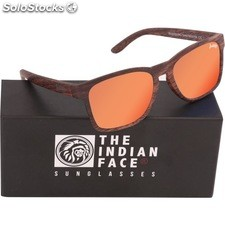 Gafas de sol free spirit - brown wooden - the indian face - 8433856066135 -