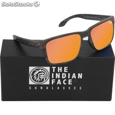 Gafas de sol freeride spirit - black wooden - the indian face - 8433856065565 -