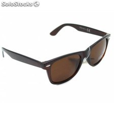 Gafas de sol retro wayfarer pasta color marron cristal normal