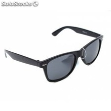 Gafas de sol retro wayfarer pasta color negro cristal normal
