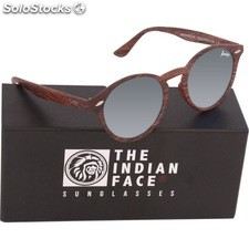 Gafas de sol urban spirit - brown wooden - the indian face - 8433856065862 -