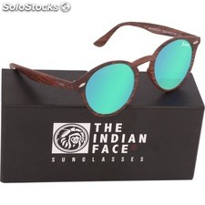 Gafas de sol urban spirit - brown wooden - the indian face - 8433856065886 -