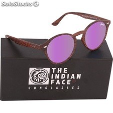 Gafas de sol urban spirit - brown wooden - the indian face - 8433856065893 -