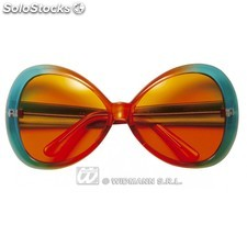 Gafas flower power verdes