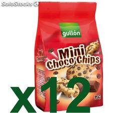 Galletas gullón mini choco-chips chocolate caja 12 x 85 gr - gullon -