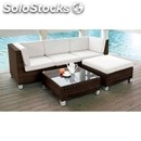 Garden furniture-mod. cs0109-white aluminium structure and black or
