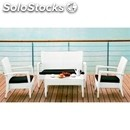 Garden furniture-mod. gf066-white aluminium structure and black or
