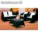 Garden furniture-mod. ws091-white aluminium structure and black or
