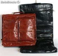 Garment Bag Cowhide Leather Black