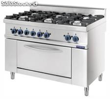 Gas and Electric range 6 burners