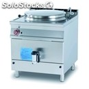 Gas boiling pan - mod. pda150/98g - direct heating - autoclave lid - capacity lt