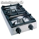 Gas boiling top - 2 burners - mod. big7002f - pilot light - 2 gas burners