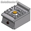 Gas boiling top - mod. pc1t/64g - n. 1 burner - dimensions: cm l 40 x d 60 x h