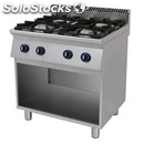 Gas cooker, 4 burners - mod. 7c4fp - open cabinet - pilot light - absorption: kw