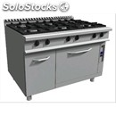 Gas cooker, 6 burners - mod. e9/cug6fe - static electric oven cm l 54,5 x d 74,5