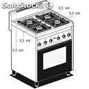 Gas cooker - mod. cf4/8g - n. 4 burners - gas oven with grill cm l 64 x d 39 x h