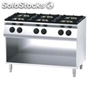 Gas cooker - mod. fn76qdh - n. 6 burners - open cupboard - pilot light - power
