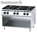 Gas cooker - mod. fn96qdh - n. 6 burners - open cupboard - pilot light - power