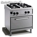 Gas cooker - mod. n74gqgyh - n. 4 burners - gn 1/1 gas oven - pilot light -
