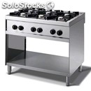Gas cooker - mod. n76g - n. 6 burners - open cupboard - no pilot light -