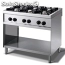 Gas cooker - mod. n76gq - n. 6 burners - open cupboard - pilot light -