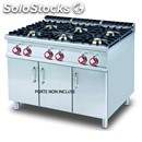 Gas cooker - mod. pc/912g - n. 6 burners - open cupboard - dimensions: cm l 120