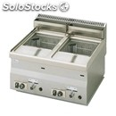 Gas countertop fryer - mod. 60/60 frg - n. 2 tanks lt. 8 + 8 - power kw 13,6 -