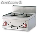 Gas countertop fryer - mod. f28t/66g - n. 2 tanks lt 8+8 - dimensions cm l 60 x