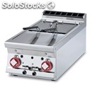 Gas countertop fryer - mod. f28t/74g - n. 2 tanks lt 8+8 - dimensions cm l 40 x