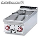 Gas countertop fryer - mod. f28t/94g - n. 2 tanks lt 8+8 - dimensions cm l 40 x