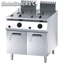 Gas fryer - mod. fn94gsh - n. 2 tanks lt. 18 + 18 - cupboard with out-swing