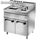 Gas fryer - mod. sfm 20dm - tank capacity lt 20+20 - power kw 16,5+16,5 - power