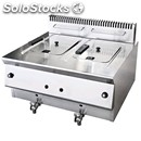Gas fryer with tap-mod. gu13 + 1:00 pm-capacity tanks lt. 13 + 13-19